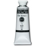 Da Vinci Artists' Gouache Opaque Watercolor 37ml Black: Black/Gray, Tube, 37 ml, Gouache, Watercolor, (model DAV403), price per tube
