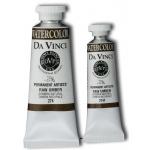 Da Vinci Artists' Watercolor Paint 37ml Raw Umber: Brown, Tube, 37 ml, Watercolor, (model DAV274), price per tube