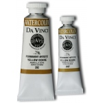 Da Vinci Artists' Watercolor Paint 37ml Yellow Ochre; Color: Yellow; Format: Tube; Size: 37 ml; Type: Watercolor; (model DAV292), price per tube