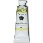 Da Vinci Artists' Gouache Opaque Watercolor 37ml Yellow Light Hansa: Yellow, Tube, 37 ml, Gouache, Watercolor, (model DAV494), price per tube