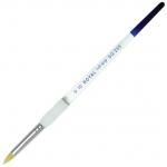 Royal & Langnickel® Soft Grip™ Gold Taklon Short Round Brush 4: Gold Taklon, Round, 4, Acrylic, Oil, Watercolor, (model RSG255-4), price per each