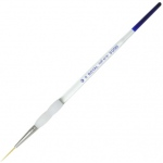 Royal & Langnickel® Soft Grip™ Gold Taklon Script Liner Brush 0: Gold Taklon, Script, 0, Acrylic, Oil, Watercolor, (model RSG585-0), price per each