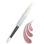 Royal & Langnickel® Soft Grip™ White Taklon Round Brush 2: White Taklon, Round, 2, Acrylic, Oil, Watercolor, (model RSG4000-2), price per each