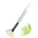 Royal & Langnickel® Soft Grip™ Stiff Hog Bristle Fan Brush 4: Stiff Hog Bristle, Fan, 4, Acrylic, Oil, Watercolor, (model RSG825-4), price per each