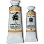 Da Vinci Artists' Watercolor Paint 37ml Cadmium Yellow Deep: Yellow, Tube, 37 ml, Watercolor, (model DAV215), price per tube