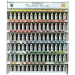 Da Vinci Artists' Watercolor Paint Display: (168) 37ml Tubes, 2 each of 84 Colors