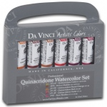 Da Vinci Artists' Watercolor Paint 6-Color Quinacridone Set; Color: Multi; Format: Tube; Size: 15 ml; Type: Watercolor; (model DAVWC042), price per set