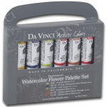 Da Vinci Artists' Watercolor Paint 6-Color Flower Set; Color: Multi; Format: Tube; Size: 15 ml; Type: Watercolor; (model DAVWC022), price per set