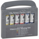 Da Vinci Artists' Watercolor Paint 10-Color Warm & Cool Set: Multi, Tube, 15 ml, Watercolor, (model DAVWC6F), price per set