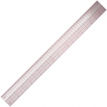 "Westcott® C-Thru® 24"" English/Metric Ruler: Clear, Plastic, 24"", Ruler, (model B97), price per each"