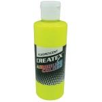 Createx™ Airbrush Paint 4oz Fluorescent Yellow: Yellow, Bottle, 4 oz, Airbrush, (model 5405-04), price per each