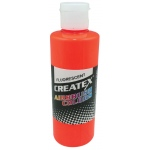 Createx™ Airbrush Paint 4oz Fluorescent Orange: Orange, Bottle, 4 oz, Airbrush, (model 5409-04), price per each