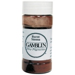 Gamblin Dry Pigment 60g Burnt Sienna: Brown, Jar, 4 oz, (model G8060), price per each