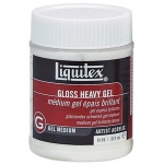 Liquitex® Gloss Heavy Gel Medium 8oz: Gloss, 8 oz, Gel, (model 5120), price per each