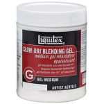 Liquitex® Slow-Dri® Blending Gel Medium 16oz: 16 oz, Acrylic Painting, Gel