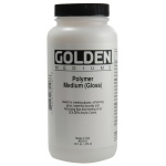 Golden® Polymer Gloss Medium 16 oz.; Size: 16 oz, 473 ml; Type: Acrylic Painting; (model 0003510-6), price per each