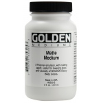 Golden® Matte Medium 16 oz.: Matte, 16 oz, 473 ml, (model 0003530-6), price per each