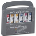 Da Vinci Artists' Oil Color Paint Warm and Cool 6-Color Set; Color: Multi; Format: Tube; Size: 21 ml; Type: Oil; (model DAV1121), price per set