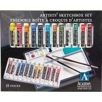 Grumbacher® Academy® Watercolor Paint 12-Color Set; Color: Multi; Format: Tube; Size: 7.5 ml; Type: Watercolor; (model GBA2012SET), price per set
