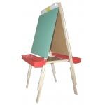 Beka Ultimate Easel: Chalkboard & Markerboard, Red Plastic Tray