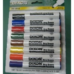 Dixon Whiteboard Markers: 8 Color Set