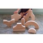 Beka Special Shapes Block Collection: The Ultimate Add-On Set, 51 Pieces