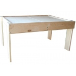 Beka Mini-Train Table: Maple Activity Table with Split Top