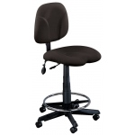 "Mayline® Swivel Task Chair: No, Black/Gray, Foot Ring Included, 24"" - 29"", 30"" & Up, Under 24"", Fabric, (model 4005AG), price per each"