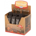 Heritage Arts™ Chunky Charcoal Display; Color: Black/Gray; Degree: Soft; Format: Stick; Type: Block; (model CC12D), price per each