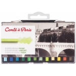 Conte™ 12-Color Landscape Set: Multi, Crayon, Drawing, (model C50246), price per set