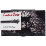 Conte™ Pastel Crayons Black HB: Black/Gray, Crayon, Drawing, (model C50237), price per pack