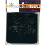 "Cedar Canyon Textiles Garden Flowers Rubbing Plate Set: Black/Gray, 7"" x 7"", Rubbing Plate, (model CCT4004), price per set"