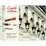 Conte Sketching and Drawing Pencil: Sketching Metal Tin Box (Crayons & Pencils) Set