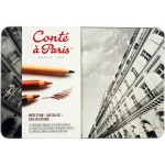 Conte Sketching and Drawing Pencil: Sketching Metal Tin Set (Pencils) Set