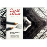Conte Sketching and Drawing Pencil: Drawing Metal Tin Set (Pencils) Set