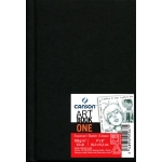 "Canson® ArtBook™ ONE 4"" x 6"" Hardbound Sketchbook: Sewn Bound, White/Ivory, Book, Black/Gray, 100 Sheets, 4"" x 6"", Drawing, 67 lb, (model C200005567), price per each"