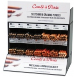 Conte Sketching and Drawing Pencil Display Assortment