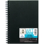 "Canson® ArtBook™ 5.5"" x 8.5"" Mix Media Wirebound Books: Wire Bound, White/Ivory, Book, Black/Gray, 40 Sheets, 5 1/2"" x 8 1/2"", Mix Media, 138 lb, (model C100516108), price per each"