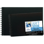 "Canson® ArtBook™ Montval® 10"" x 7"" Field Watercolor Wirebound Book; Binding: Wire Bound; Color: White/Ivory; Format: Book; Ink Color: Black/Gray; Quantity: 20 Sheets; Size: 7"" x 10""; Type: Watercolor; Weight: 140 lb; (model C100510439), price per each"