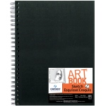 "Canson® ArtBook™ Artist Series 9"" x 12"" Wirebound Sketchbook; Binding: Wire Bound; Color: White/Ivory; Format: Book; Ink Color: Black/Gray; Quantity: 80 Sheets; Size: 9"" x 12""; Type: Sketching; Weight: 65 lb; (model C100510429), price per each"