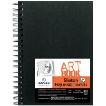 "Canson® ArtBook™ Artist Series 5"" x 7"" Wirebound Sketchbook; Binding: Wire Bound; Color: White/Ivory; Format: Book; Ink Color: Black/Gray; Quantity: 80 Sheets; Size: 5"" x 7""; Type: Sketching; Weight: 65 lb; (model C100510433), price per each"