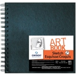 "Canson® ArtBook™ Artist Series 6"" x 6"" Wirebound Sketchbook; Binding: Wire Bound; Color: White/Ivory; Format: Book; Ink Color: Black/Gray; Quantity: 80 Sheets; Size: 6"" x 6""; Type: Sketching; Weight: 65 lb; (model C100510426), price per each"
