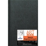 "Canson® ArtBook™ Artist Series 4"" x 6"" Hardbound Sketchbook; Binding: Sewn Bound; Color: White/Ivory; Format: Book; Ink Color: Black/Gray; Quantity: 108 Sheets; Size: 4"" x 6""; Type: Sketching; Weight: 65 lb; (model C100510343), price per each"