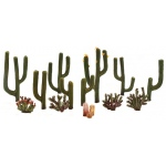 "Woodland Scenics® Cactus Plants 1/2"" - 2-1/2"" 13-Pack; Color: Green; Quantity: 13-Pack; Size: 1/2"" - 2 1/2""; Type: Tree; (model TR3600), price per each"
