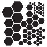 "The Crafter's Workshop 12"" x 12"" Design Template Hexagons: Clear, 12"" x 12"", Patterned Stencil, (model TCW324), price per each"