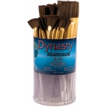 Dynasty® EB-700 Mastodon Canister Series Fan and Flat Glaze Brush Assortment: Short Handle, Synthetic, Fan, Acrylic, Oil, (model EB735D), price per each