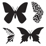 "The Crafter's Workshop 6"" x 6"" Design Template Butterfly: Clear, 6"" x 6"", Patterned Stencil, (model TCW291S), price per each"