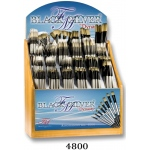 Dynasty Black Silver Blended Synthetic Oil and Acrylic Brush Display Assortment