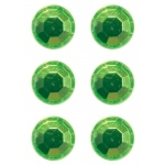 Mishu Mighty Magnets Lime Bling; Color: Green; Shape: Circle; (model M884M6), price per pack