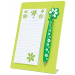"Mishu Lime Green Magnetic Notestation Set; Color: Green; Quantity: 50 Sheets; Size: 2 1/4""d x 5 1/2""w x 7 1/2""h; Type: Notepad; (model M133), price per set"